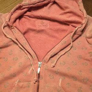 Free People Anchor Print Distressed Hoodie